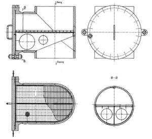 Фильтры пусковые тройниковые ФПТ от Ду 300 до Ду 600 мм чертеж