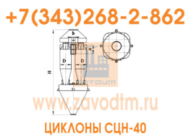 Циклон СЦН-40 чертеж